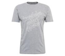 T-Shirt 'gots' graumeliert / weiß