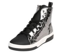 Auffälliger Sneaker High silber