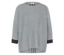 Oversized-Pullover blau