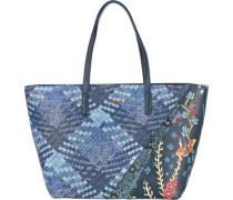 Shopper blau / rauchblau / honig