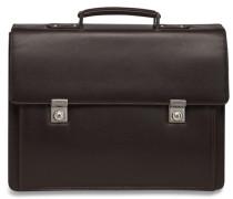 Aberdeen Aktentasche Leder 42 cm Laptopfach dunkelbraun