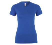 Basic-Shirt mit Rundhalsausschnitt blau