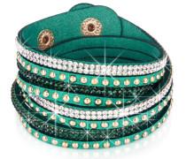 Armband Samt grün Resin weiß grün gold