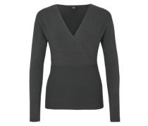 Pullover mit Cache Coeur-Ausschnitt schwarz