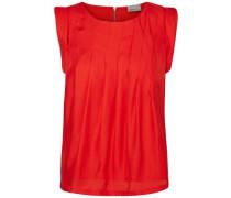 In Falten gelegte Bluse ohne Ärmel rot