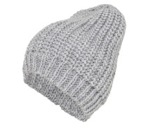 Oversize-Mütze im Patentstrickmuster grau