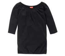 ¾ Arm Shirt mit Fledermausärmeln für Mädchen schwarz