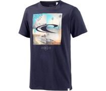 SMU Printshirt Herren beige / blau / dunkelblau
