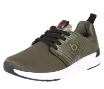 Sneaker mit Metallicdetails dunkelgrün