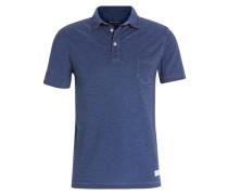 Poloshirt aus reiner Baumwolle blau