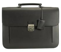 Oxford 10 Aktentasche Leder 40 cm Laptopfach schwarz