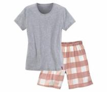 Bodywear Shorty grau / rosé