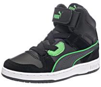 Kinder Sneakers 'Rebound Street' aus Leder neongrün / schwarz / weiß