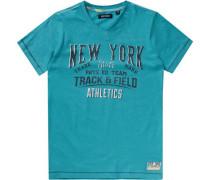 T-Shirt für Jungen türkis / schwarz