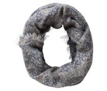 Schlauchschal Gewebt blau / grau