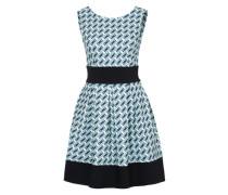 Kleid im Retro-Stil blau / grün / weiß