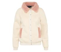 Jacke 'sherpa' beige / rosé