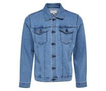Jeansjacke Einfarbige blau