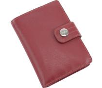 Melbourne Geldbörse Leder 10 cm rot