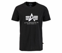 Print-Shirt schwarz
