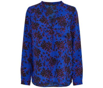 Langarmhemd Print blau