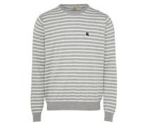Pullover 'Robie' grau / weiß