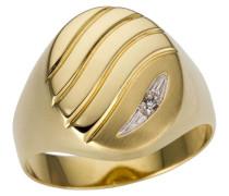 Goldring 'Glanz matt Ringkopf mit Rillen'
