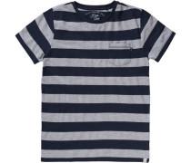 T-Shirt für Jungen dunkelblau / graumeliert