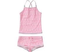 Kinder Tankini UV-Schutz 50+ pink / weiß