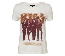 'Kizz' T-Shirt weiß
