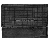 Cut it Vintage Little Dimly Wallet Geldbörse Leder 14 cm schwarz