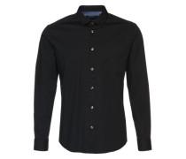 Uni Hemd 'Noos Solid LS' schwarz