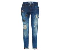 Mid Waist Jeans 'amelie' blue denim
