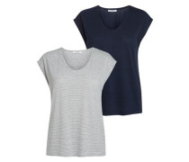 T-Shirt 2er-Pack grau