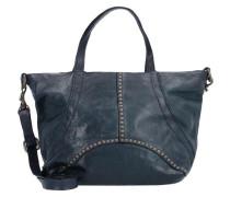 Traditional Handtasche Leder 24 cm dunkelblau