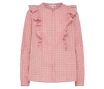 Bluse rosé / weiß