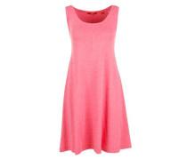 Meliertes Trägerkleid aus Jersey pink