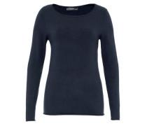 Pullover mit Rollkanten blau