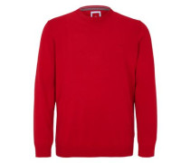 Pullover aus glattem Feinstrick rot