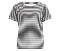 Rückendetail-T-Shirt 'objlana' anthrazit / weiß