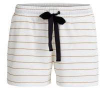 Shorts Sweat- gold / weiß