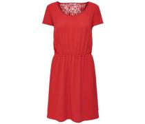 Kleid mit kurzen Ärmeln Spitze rot