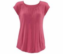 T-Shirt mit besonderem Ausschnitt pink