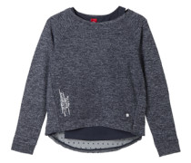 Sweatshirt im 2-in-1-Look blau