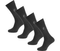 Larsen 4 Paar Socken basaltgrau