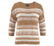 Pullover ocker / weiß