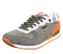 Sneaker 'Gable Anglaise Leaf' oliv / orange