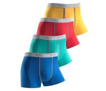 Baumwoll-Boxer (4 Stück) blau / gelb / rot