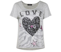 T-Shirt 'zebra Love' grau