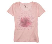 Trachtenshirt mit Frontdruck rosa